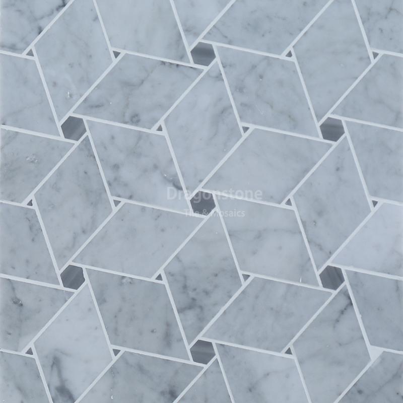 Easy style Crossed square mosaic GWM-22