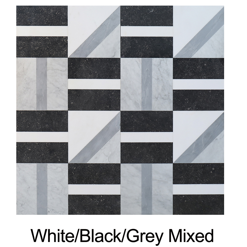 White/Black/Grey Mixed