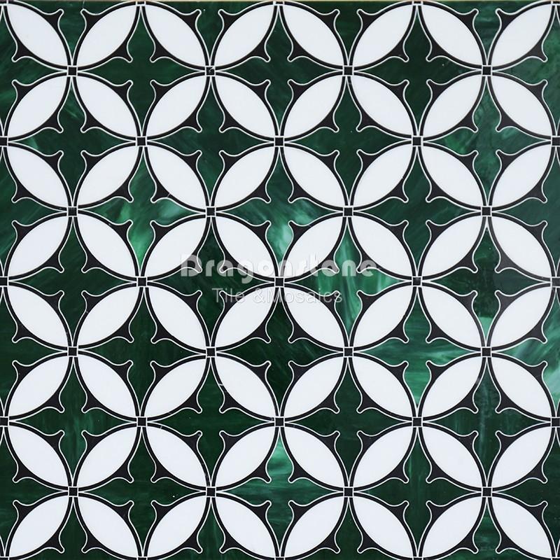 Mix Color Water Jet Marble Mosaics Tile WM-81